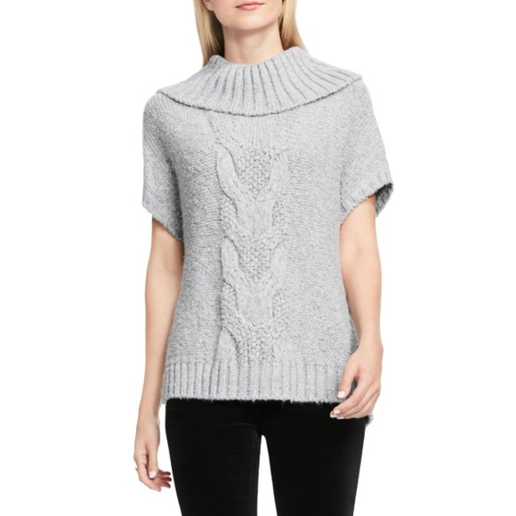 ffb0096ffd23 NWT Vince Camuto Short Sleeve Turtleneck Sweater